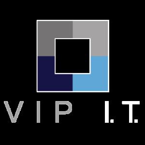 VIP I.T. logo footer white
